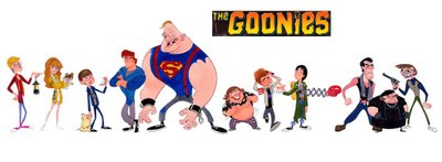 Goonies Cartoon Character Design