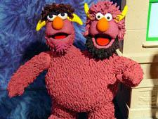 Sesame Street two-headed monster