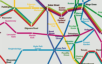 New tube map, based on travel times